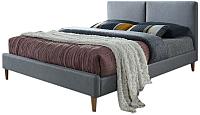 Двуспальная кровать Signal Acoma 160x200 (серый/дуб) -