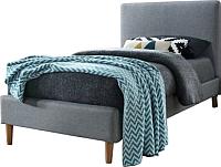 Односпальная кровать Signal Acoma 90x200 (серый/дуб) -