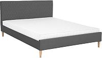 Двуспальная кровать Signal Azurro 160x200 (серый/дуб) -