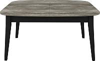 Обеденный стол Васанти Плюс Дорн ДН-04 (дуб морас/черный) -