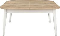 Обеденный стол Васанти Плюс Дорн ДН-06 (дуб сонома светлый/белый) -
