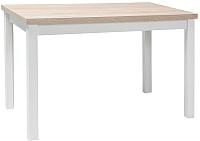 Обеденный стол Signal Adam 120 (дуб сонома/белый матовый) -