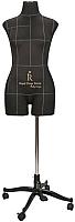 Манекен портновский Royal Dress Forms Monica+ стойка Милан (черный, размер 44) -
