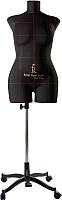 Манекен портновский Royal Dress Forms Monica+ стойка Милан (черный, размер 48) -