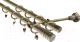 Карниз для штор Gardinia Цилиндр 2хр D19 / 48-2021053 (латунь) -