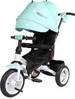 Детский велосипед с ручкой Lorelli Jaguar Air Green Stars / 10050391995 -