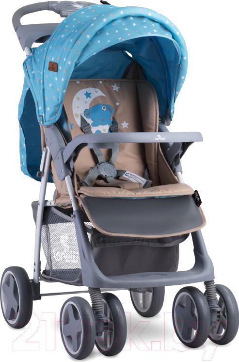 Купить Детская прогулочная коляска Lorelli, Foxy Blue Beige Moon Bear (10020521955A), Китай