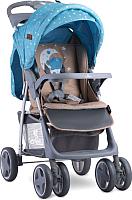 Детская прогулочная коляска Lorelli Foxy Blue Beige Moon Bear (10020521955A) -