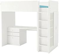 Кровать-чердак Ikea Стува/Фритидс 192.534.36 -