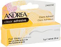 Клей для фиксации накладных ресниц Andrea Для пучков прозрачный (7г) -