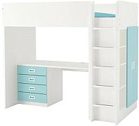 Кровать-чердак Ikea Стува/Фритидс 592.621.89 -