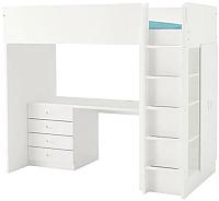 Кровать-чердак Ikea Стува/Фритидс 592.621.65 -
