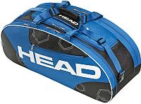 Сумка теннисная Head Elite All Court / 283323 (черный/синий) -