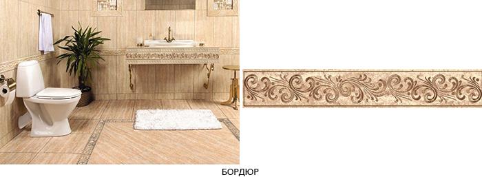 плитка для ванной с бордюром фото