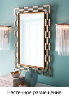 Настенное зеркало в ванну